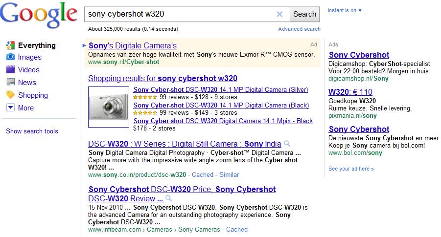 Google-Shopping-in-de-organische-zoekresultaten