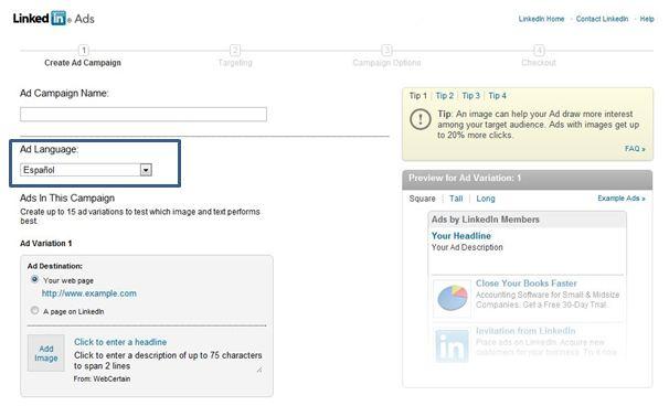 LinkedIn Advertising Global