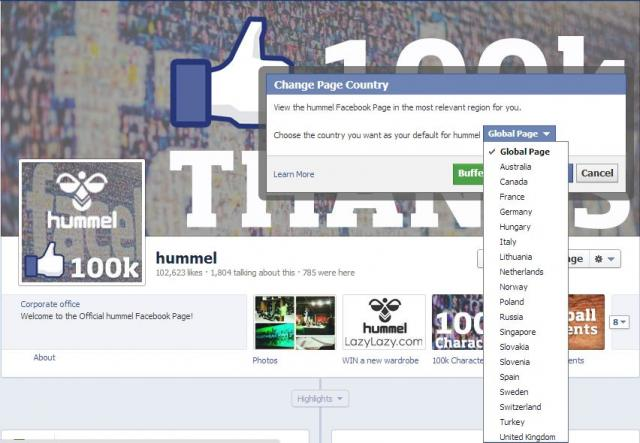 Facebook Global Pages Framework