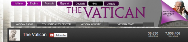 The Vatican YouTube Channel - Content Localisation