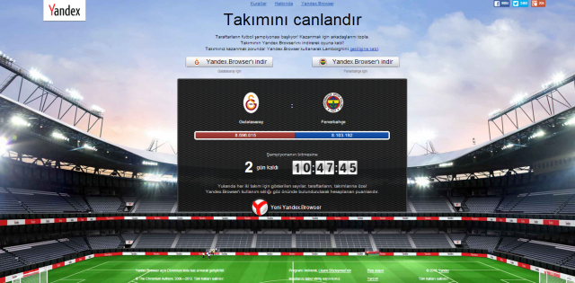 Yandex Localisation Turkey: Football Rivalry To Spur Browser Uptake