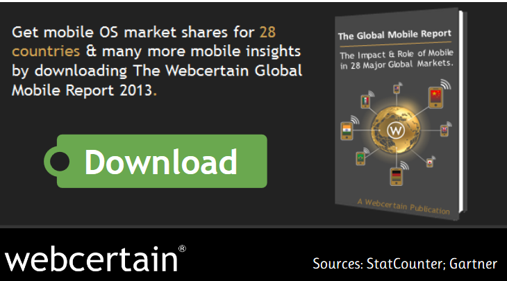 The Webcertain Global Mobile Report 2013