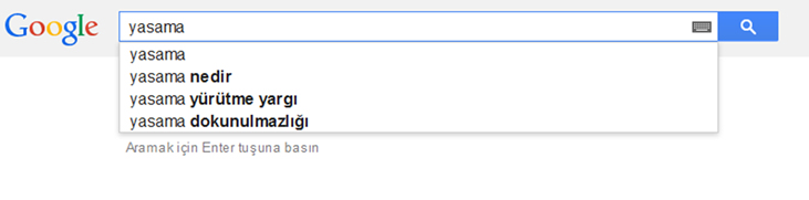 Google Search in Turkish