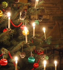 Real Candles on a Christmas Tree